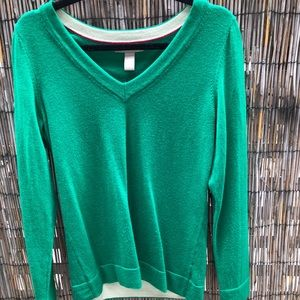 Green Banana Republic V-Neck Sweater